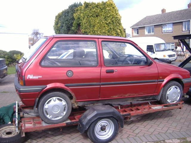 Rover Metro before conversion
