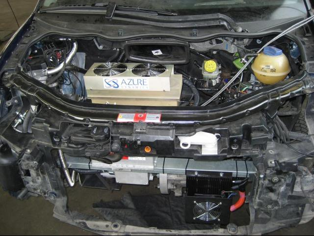 Engine bay after conversion