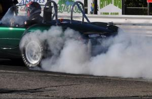 Warming up the tires at the Drag Strip