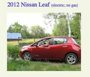 Solar Powered Nissan Leaf